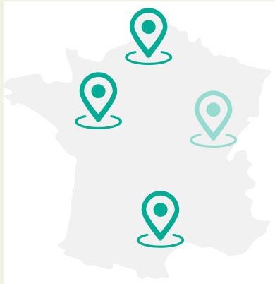 Entrepôts Giphar en France